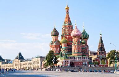 Москва и Санкт Петербург с полет от София