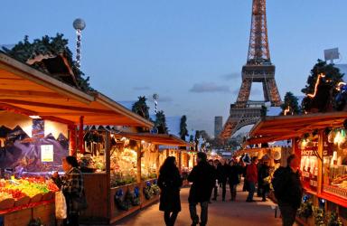 Предколеден Париж, полет от Варна
